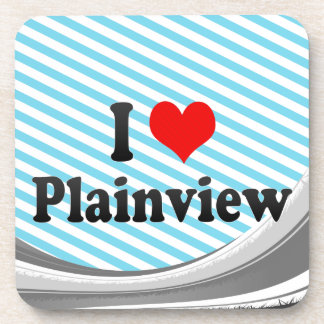 I Love Plainview, United States Drink Coasters