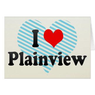 I Love Plainview, United States Greeting Card