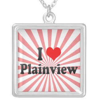 I Love Plainview, United States Square Pendant Necklace