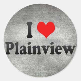 I Love Plainview, United States Classic Round Sticker