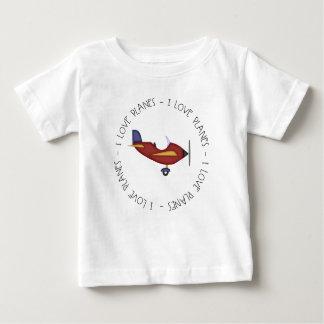 I Love Planes Baby T-Shirt