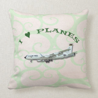 I Love Planes - KC135A Stratotanker Throw Pillow