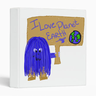 I love planet earth vinyl binder