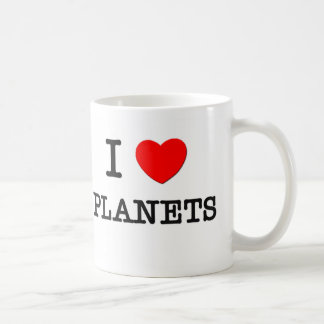 I Love Planets Coffee Mugs