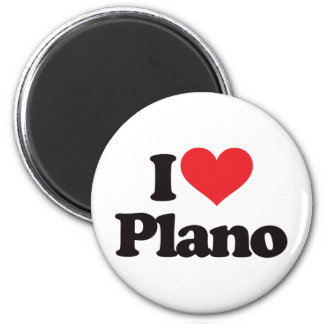 I Love Plano Magnet