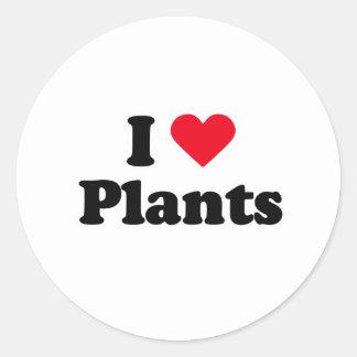 I love plants round sticker