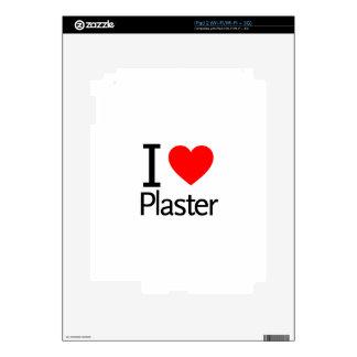 I Love Plaster iPad 2 Decals