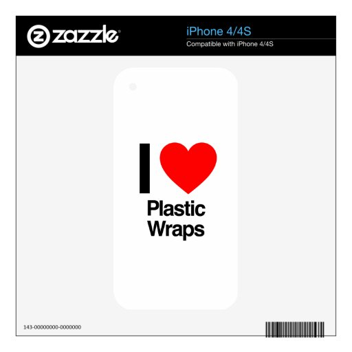 i love plastic wraps skin for the iPhone 4