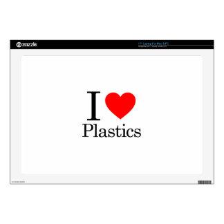 """I Love Plastics 17"""" Laptop Decals"""