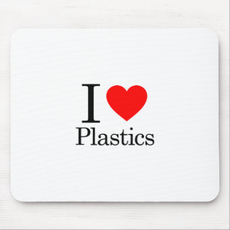 I Love Plastics Mouse Pad