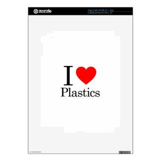 I Love Plastics Skins For iPad 2