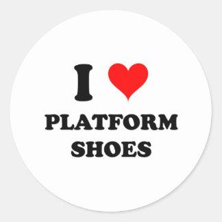 I Love Platform Shoes Round Sticker
