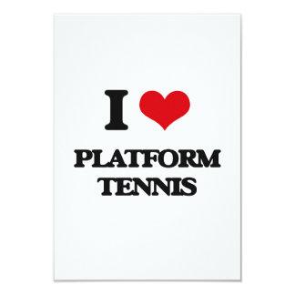 I Love Platform Tennis Personalized Invite