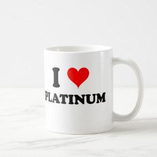 I Love Platinum Mugs