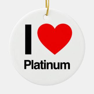 i love platinum christmas tree ornaments