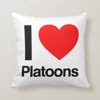i love platoons throw pillow