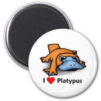 I love Platypus 2 Inch Round Magnet