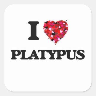 I love Platypus Square Sticker