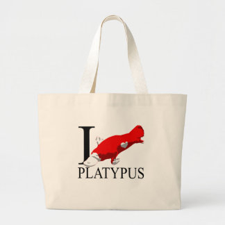 I Love Platypus Tote Bags