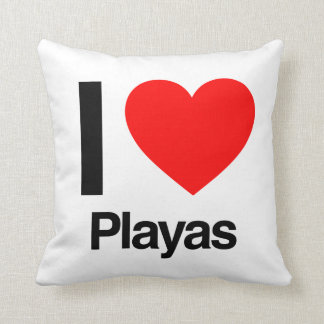 i love playas pillows