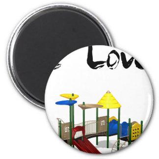 I Love Playground Magnet