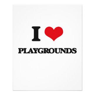 I Love Playgrounds Flyer Design