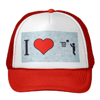 I Love Playing Basketball Trucker Hat