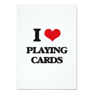 "I Love Playing Cards 3.5"" X 5"" Invitation Card"