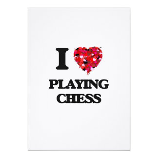 I love Playing Chess 5x7 Paper Invitation Card