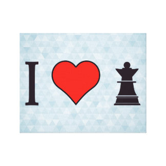 I Love Playing Chess Canvas Print