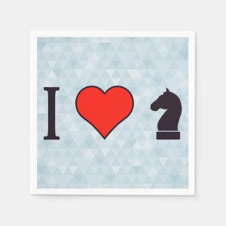 I Love Playing Chess Napkin