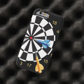 I Love Playing Dart Tough iPhone 6 Case