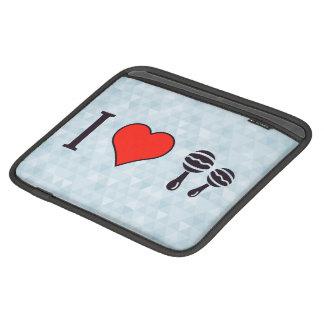 I Love Playing Maracas iPad Sleeves