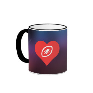 I Love Playing Rugby Modern Ringer Coffee Mug