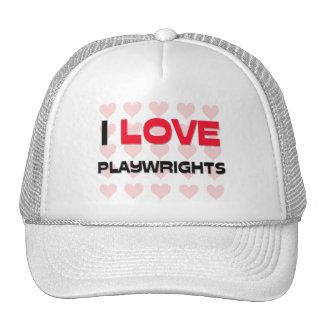 I LOVE PLAYWRIGHTS MESH HATS