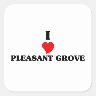 I love Pleasant Grove Square Sticker