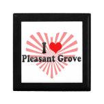 I Love Pleasant Grove, United States Jewelry Boxes