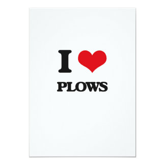 "I Love Plows 5"" X 7"" Invitation Card"