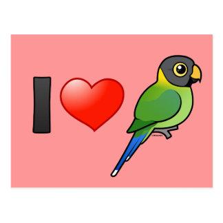 I Love Plum-headed Parakeets female Post Cards