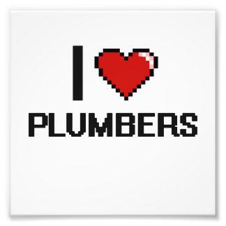 I love Plumbers Photo Print