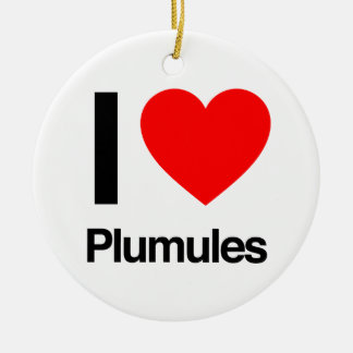 i love plumules christmas ornaments
