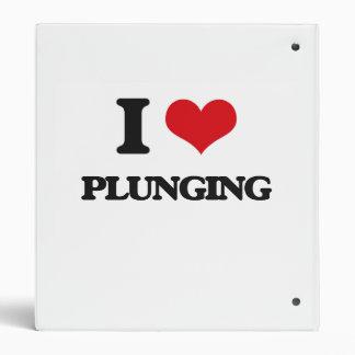 I Love Plunging 3 Ring Binder