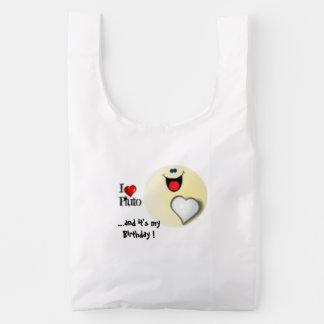 I love Pluto birthday gift Reusable Bag