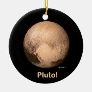 I love Pluto Ceramic Ornament