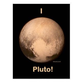 I love Pluto Postcard