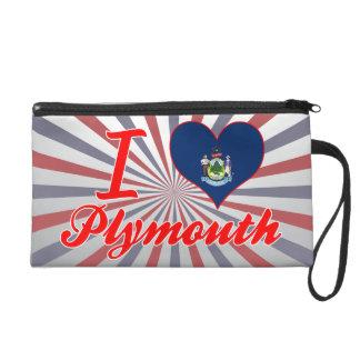 I Love Plymouth, Maine Wristlet
