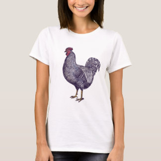 I Love Plymouth Rock Chickens - Vintage Rooster T-Shirt