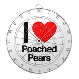 i love poached pears dart board