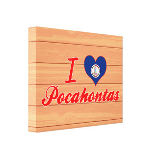 I Love Pocahontas, Virginia Gallery Wrapped Canvas
