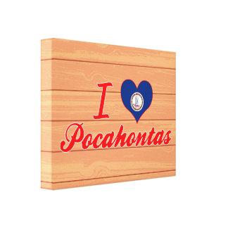 I Love Pocahontas, Virginia Gallery Wrapped Canvas